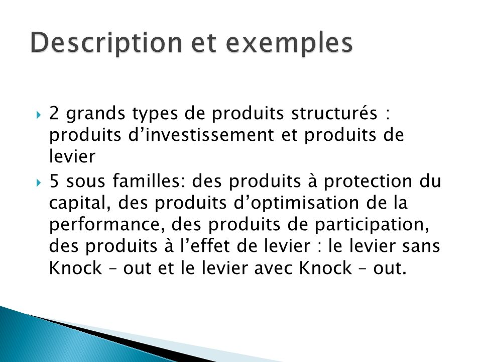 Description et exemples