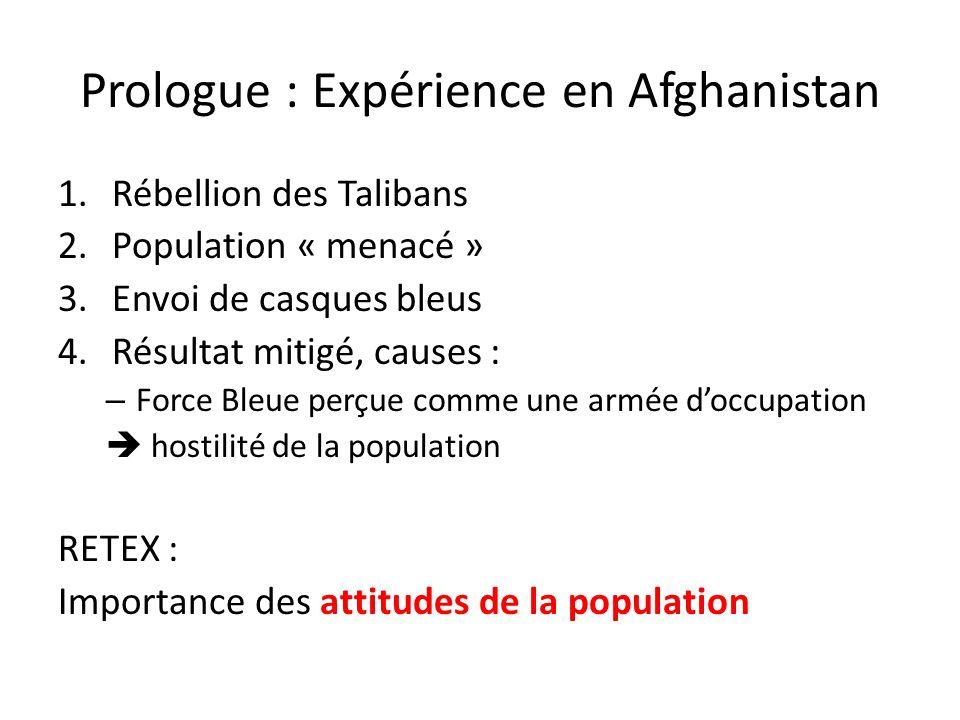 Prologue : Expérience en Afghanistan