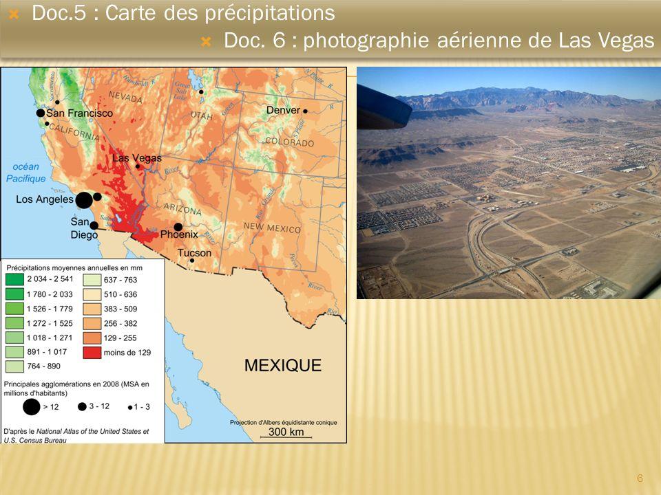 Doc.5 : Carte des précipitations
