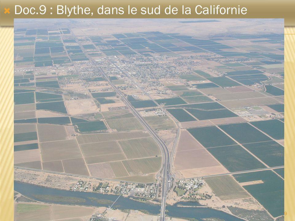 Doc.9 : Blythe, dans le sud de la Californie
