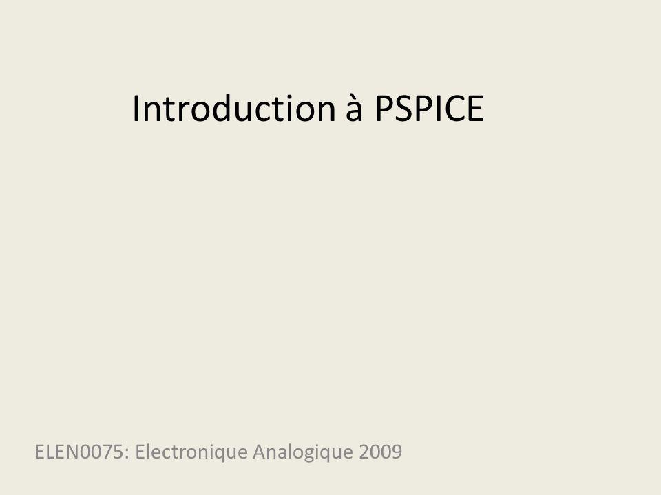 ELEN0075: Electronique Analogique 2009