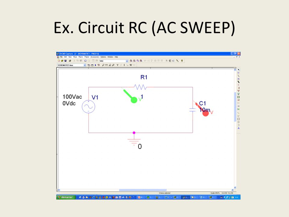 Ex. Circuit RC (AC SWEEP)
