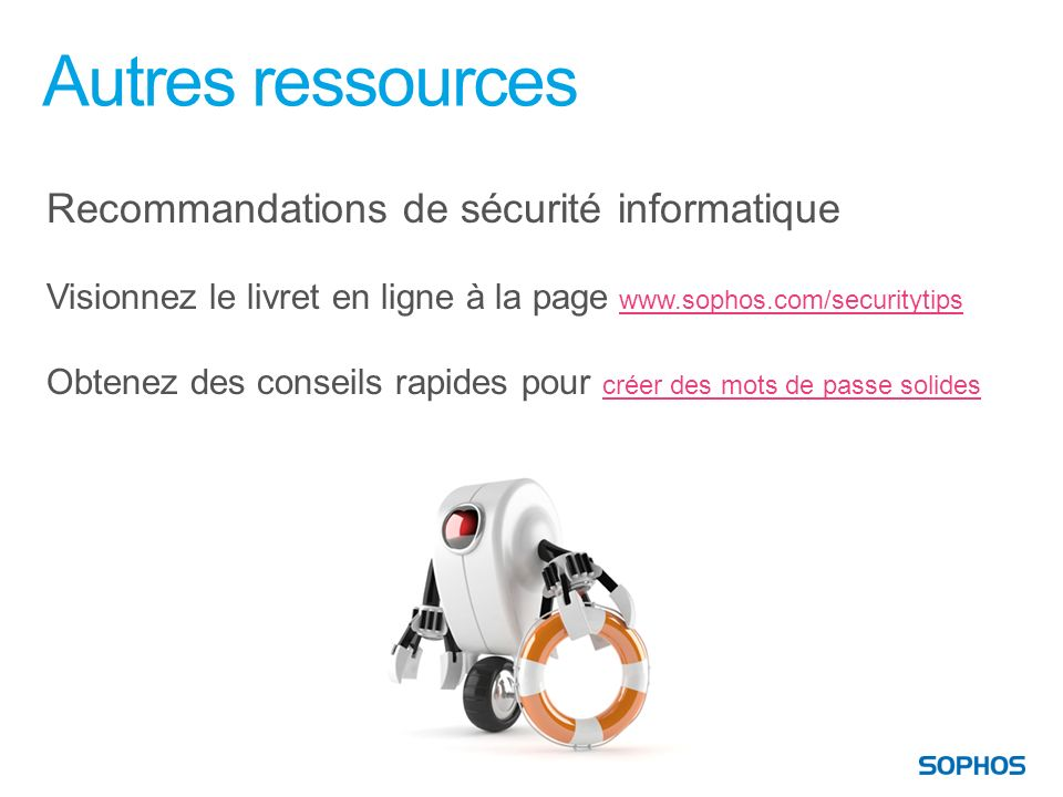 Autres ressources Recommandations de sécurité informatique