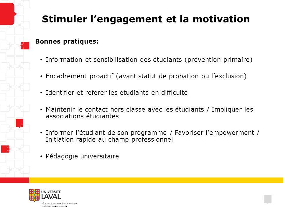 Stimuler l'engagement et la motivation