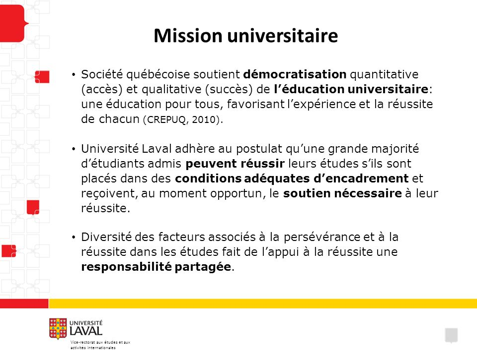 Mission universitaire