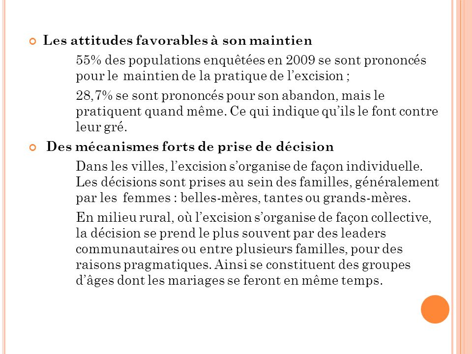 Les attitudes favorables à son maintien