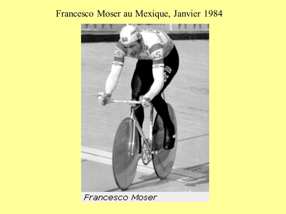 Francesco Moser au Mexique, Janvier 1984