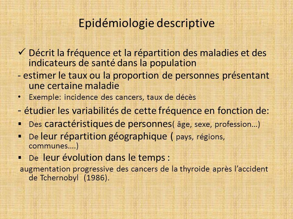 Epidémiologie descriptive