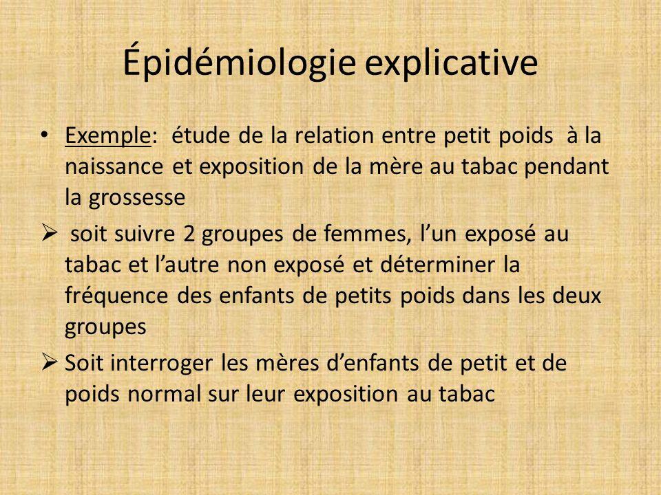 Épidémiologie explicative