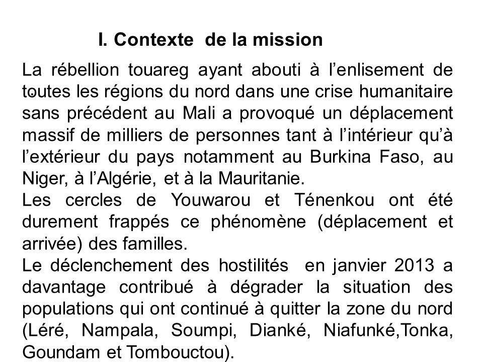 I. Contexte de la mission
