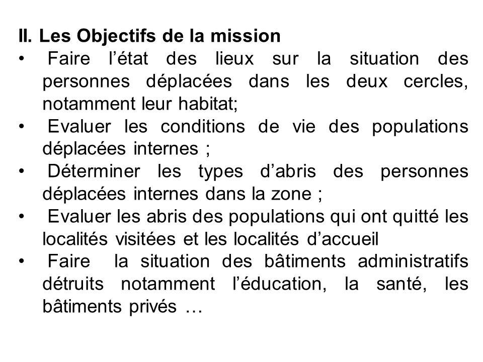 II. Les Objectifs de la mission