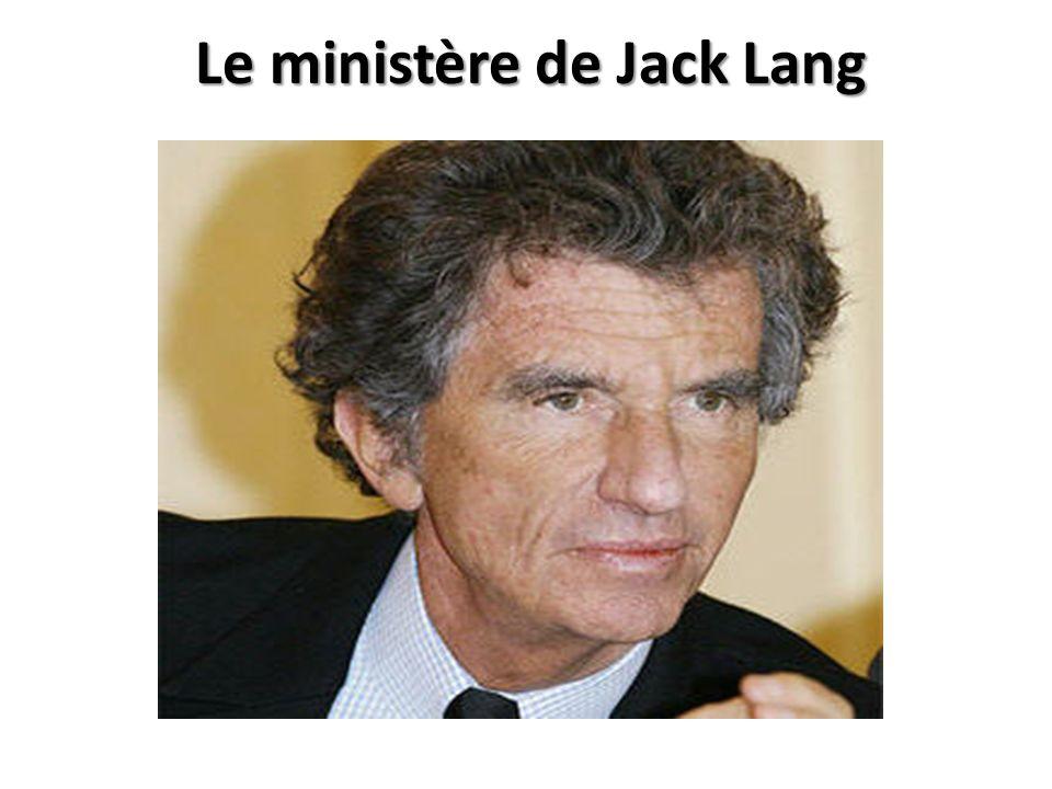 Le ministère de Jack Lang