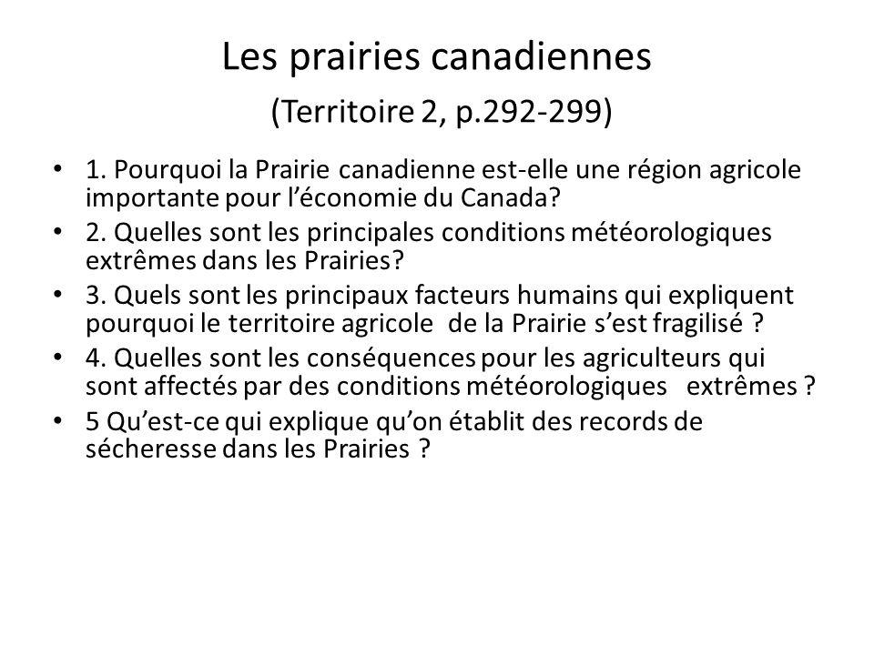 Les prairies canadiennes (Territoire 2, p.292-299)