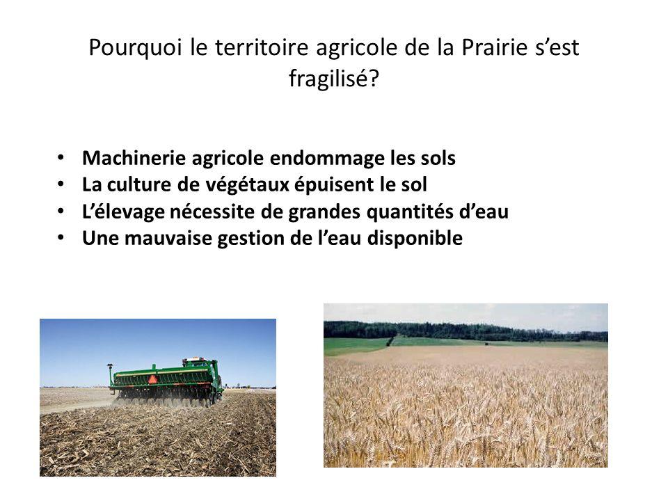 Pourquoi le territoire agricole de la Prairie s'est fragilisé