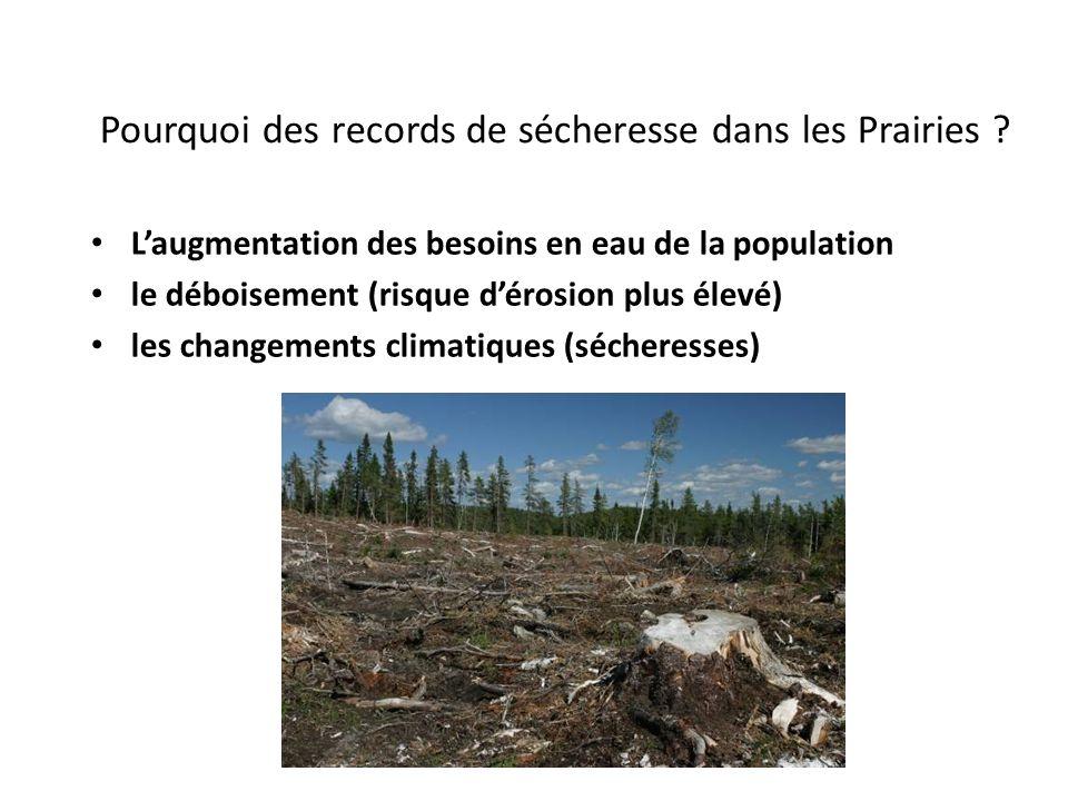 Pourquoi des records de sécheresse dans les Prairies