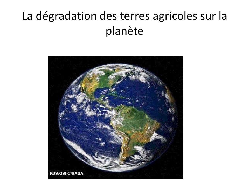 La dégradation des terres agricoles sur la planète
