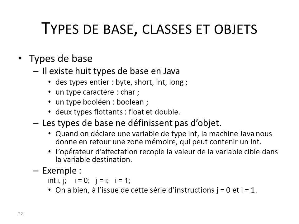 Types de base, classes et objets