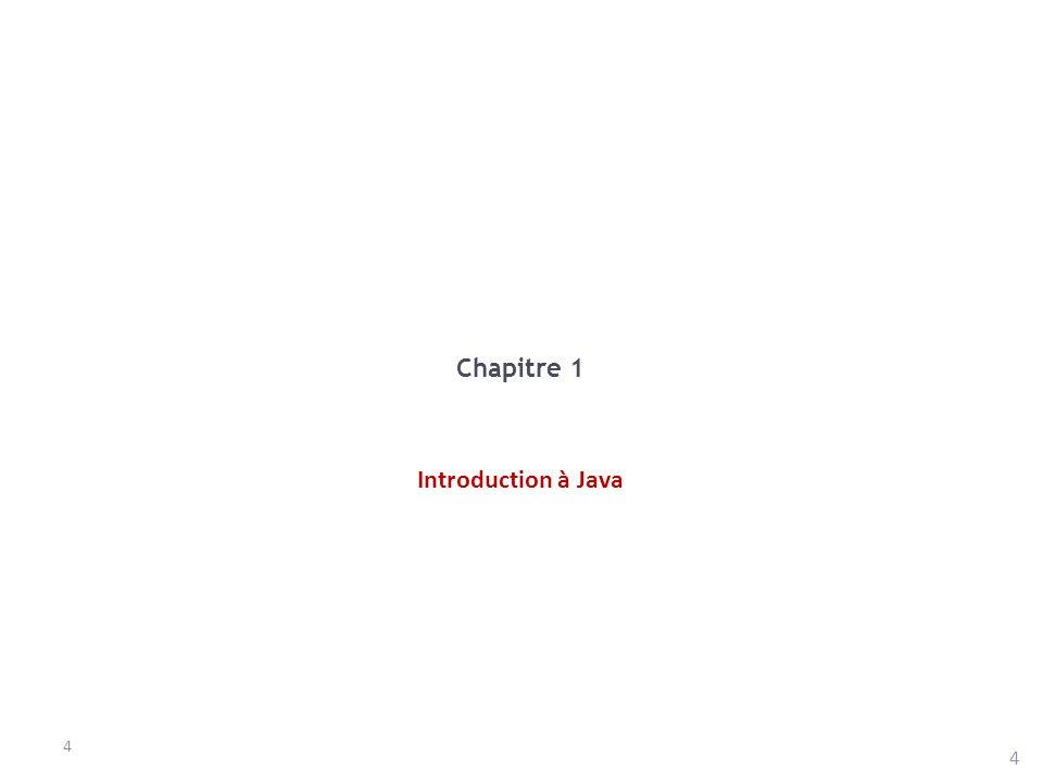 Chapitre 1 Introduction à Java 4