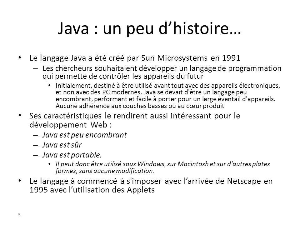 Java : un peu d'histoire…