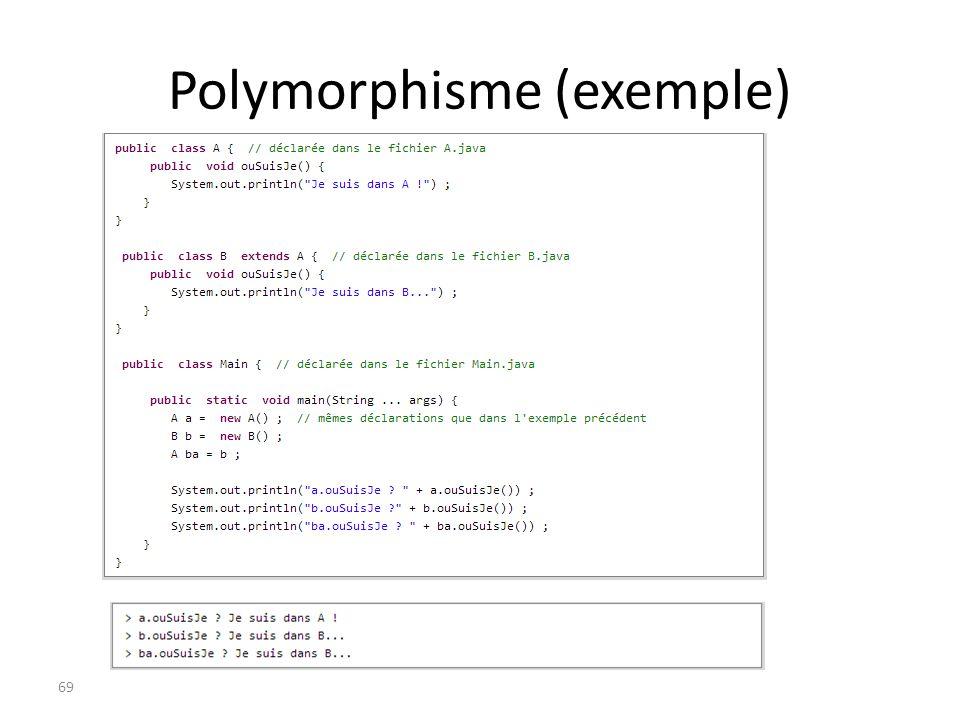 Polymorphisme (exemple)