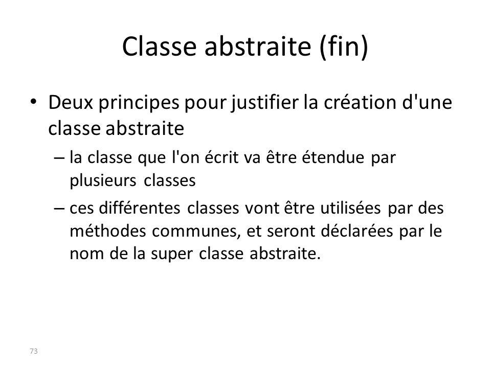 Classe abstraite (fin)