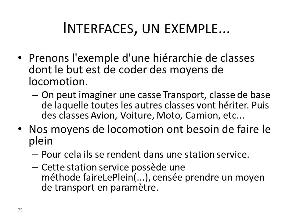 Interfaces, un exemple…
