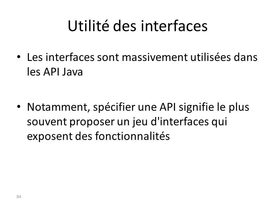 Utilité des interfaces
