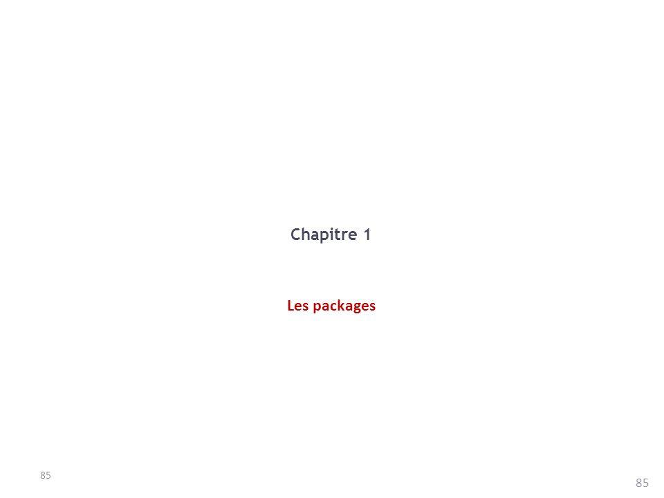 Chapitre 1 Les packages 85