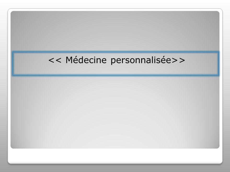 << Médecine personnalisée>>