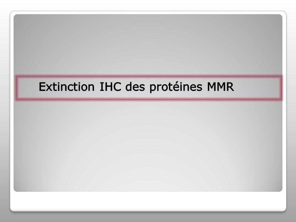 Extinction IHC des protéines MMR