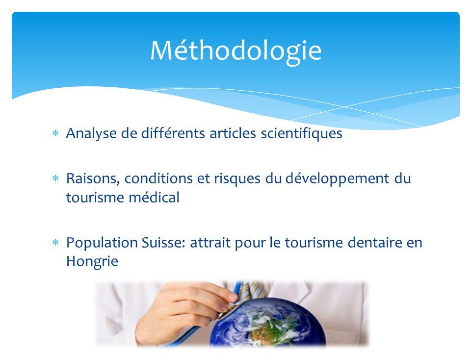 Méthodologie Analyse de différents articles scientifiques