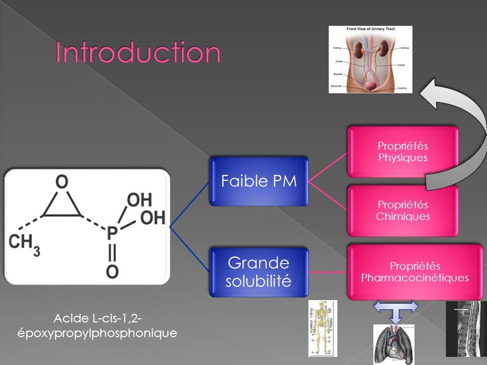 Introduction Grande solubilité Faible PM