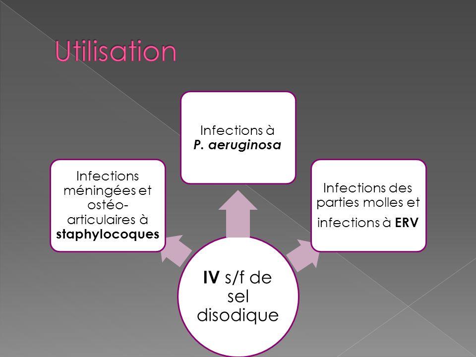Utilisation Infections à P. aeruginosa