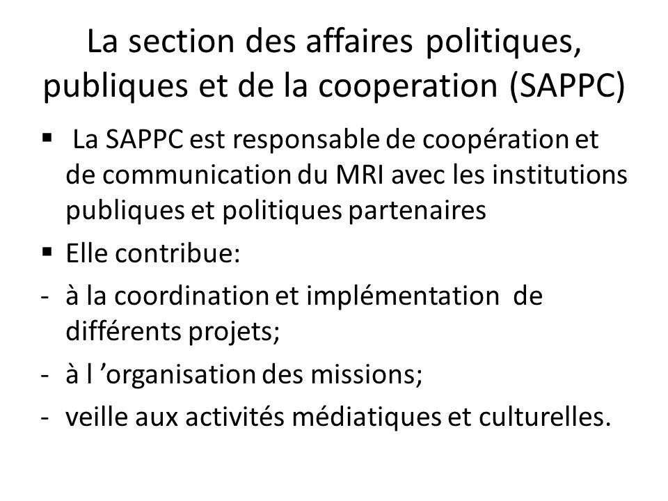 La section des affaires politiques, publiques et de la cooperation (SAPPC)