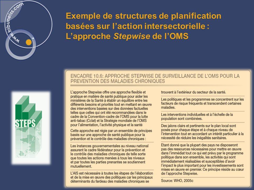 Exemple de travail intersectoriel: Les Ateliers Santé Ville en France