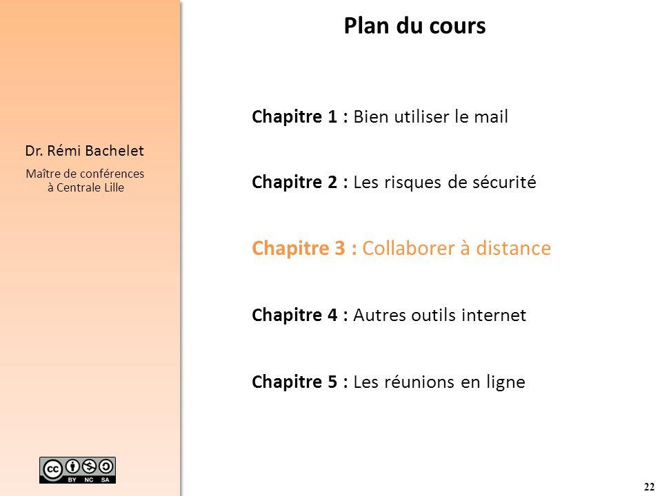 Plan du cours Chapitre 3 : Collaborer à distance