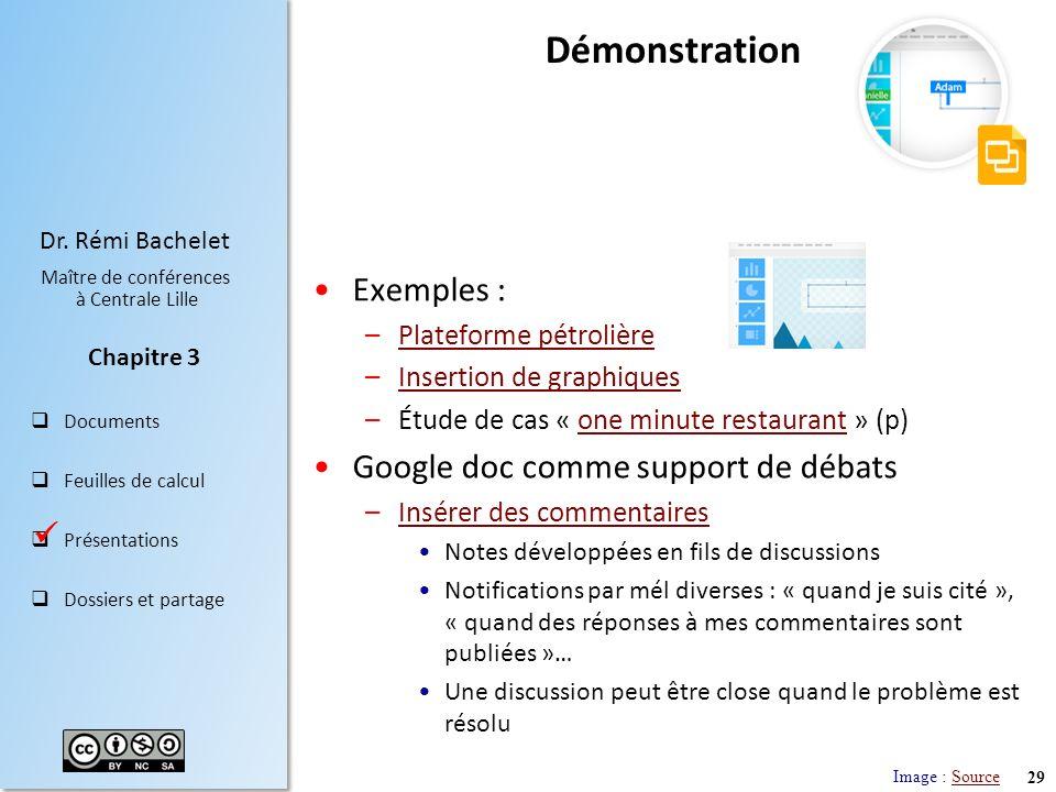 Démonstration Exemples : Google doc comme support de débats 