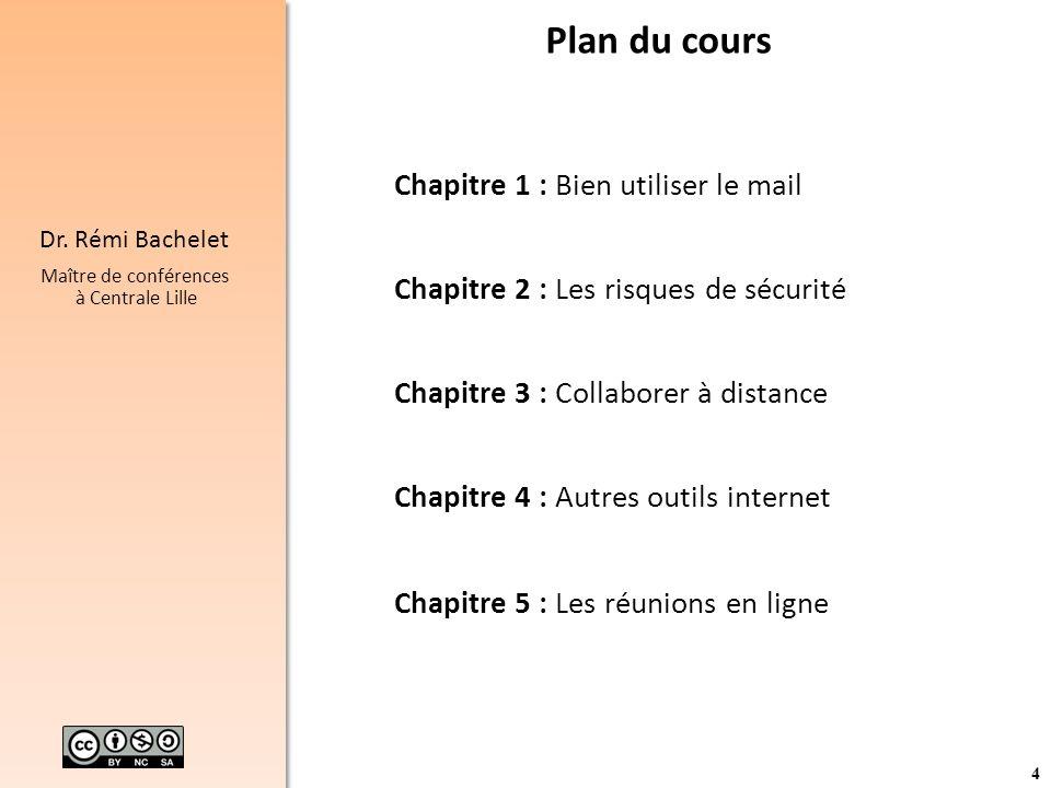 Plan du cours Chapitre 1 : Bien utiliser le mail