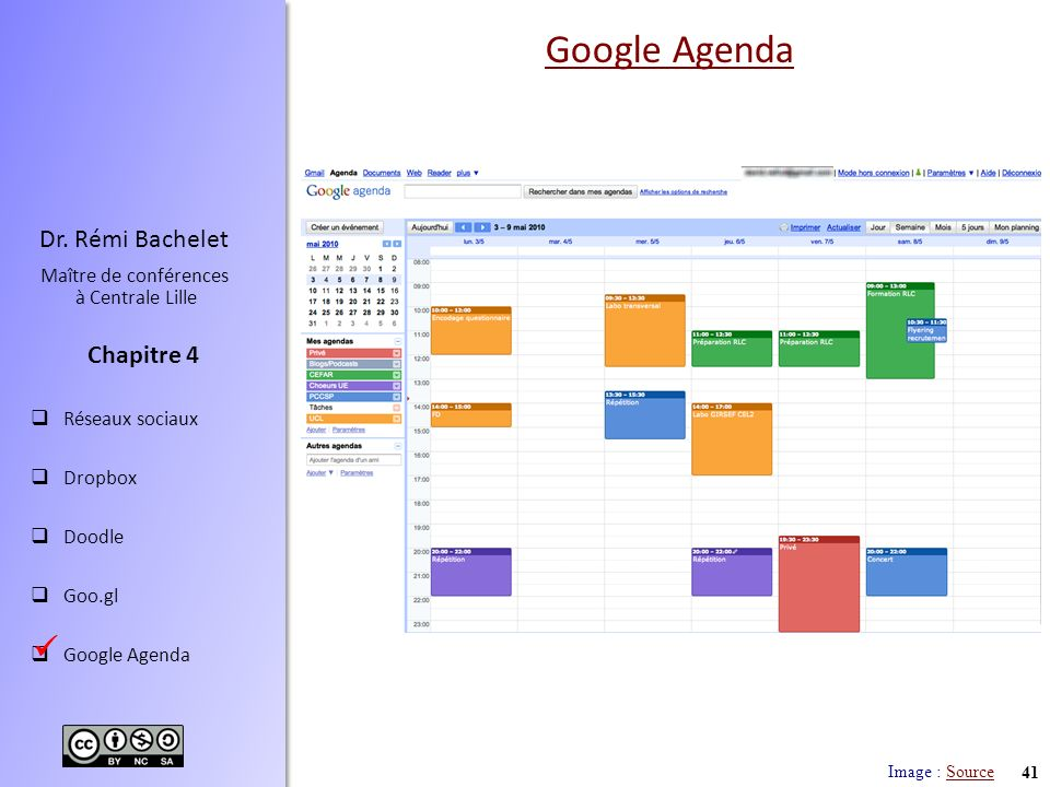Google Agenda  Image : Source