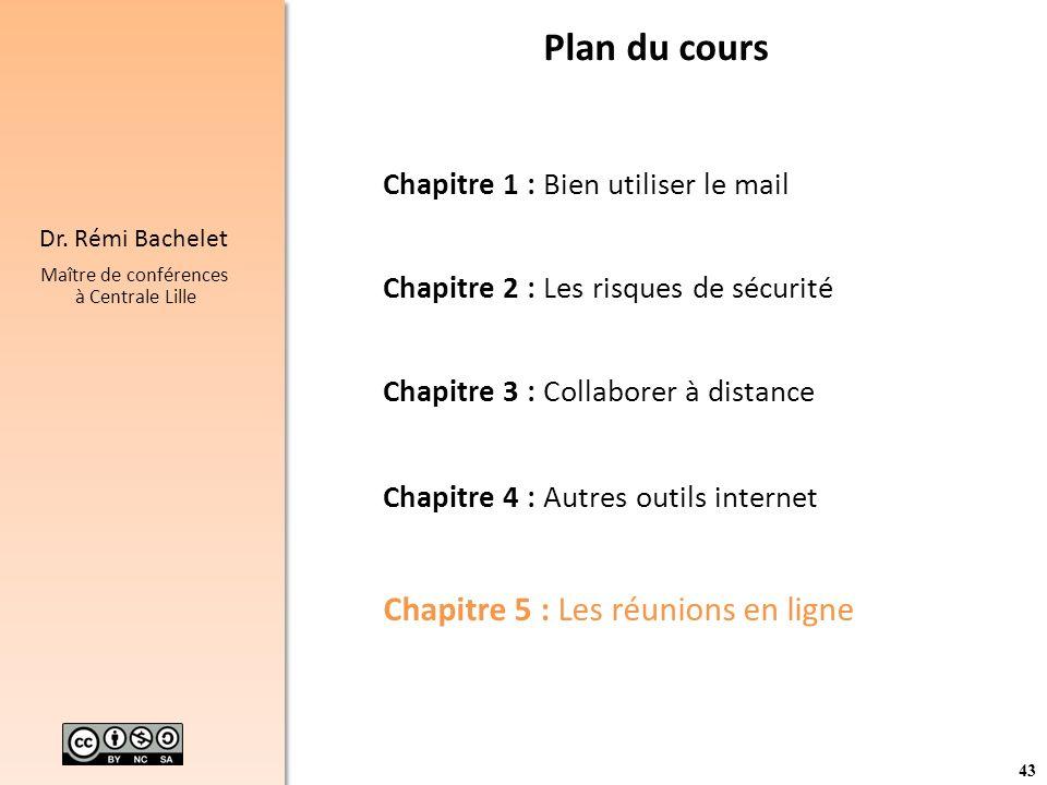 Plan du cours Chapitre 5 : Les réunions en ligne