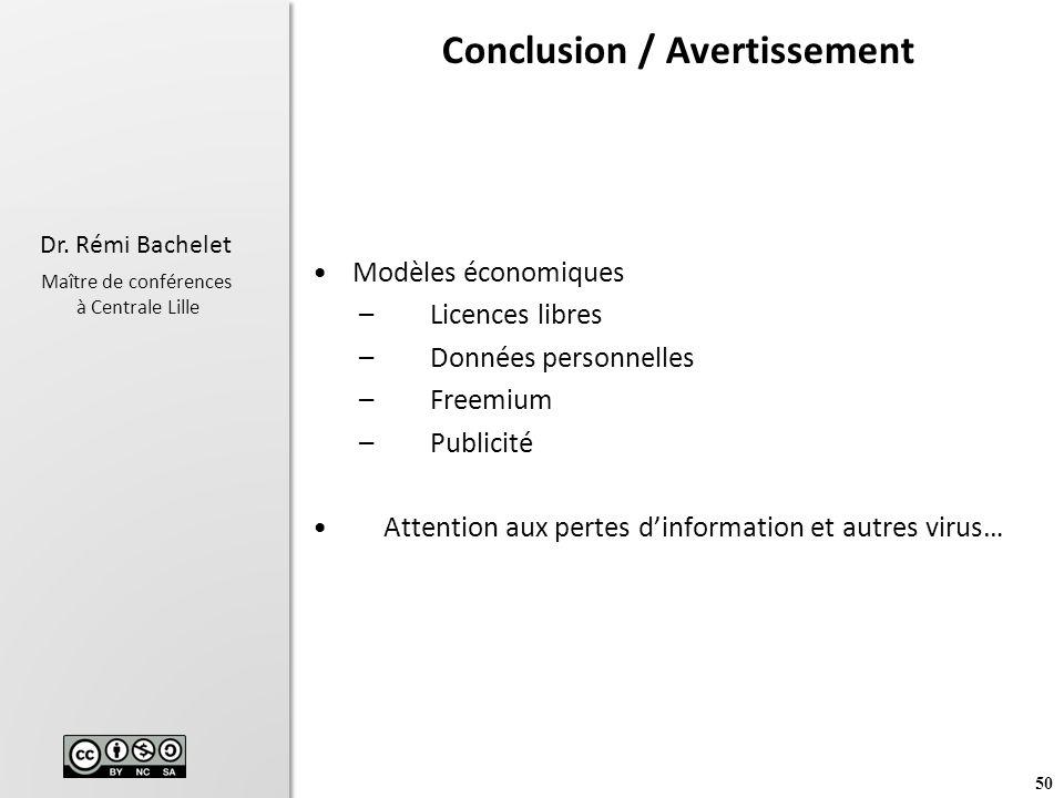 Conclusion / Avertissement