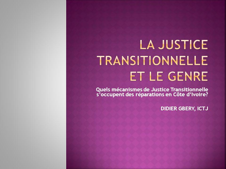 La justice transitionnelle et le genre