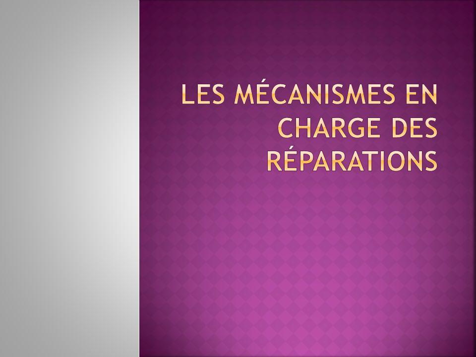 Les mécanismes en charge des réparations