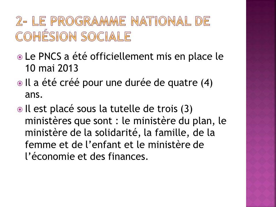 2- Le Programme National de Cohésion Sociale