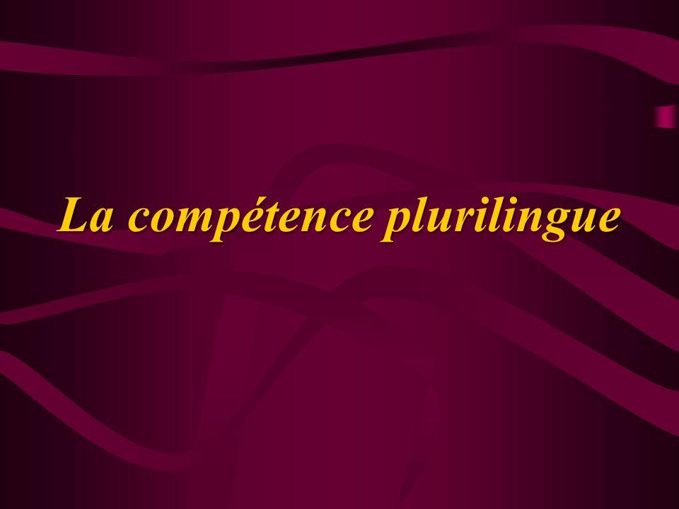 La compétence plurilingue