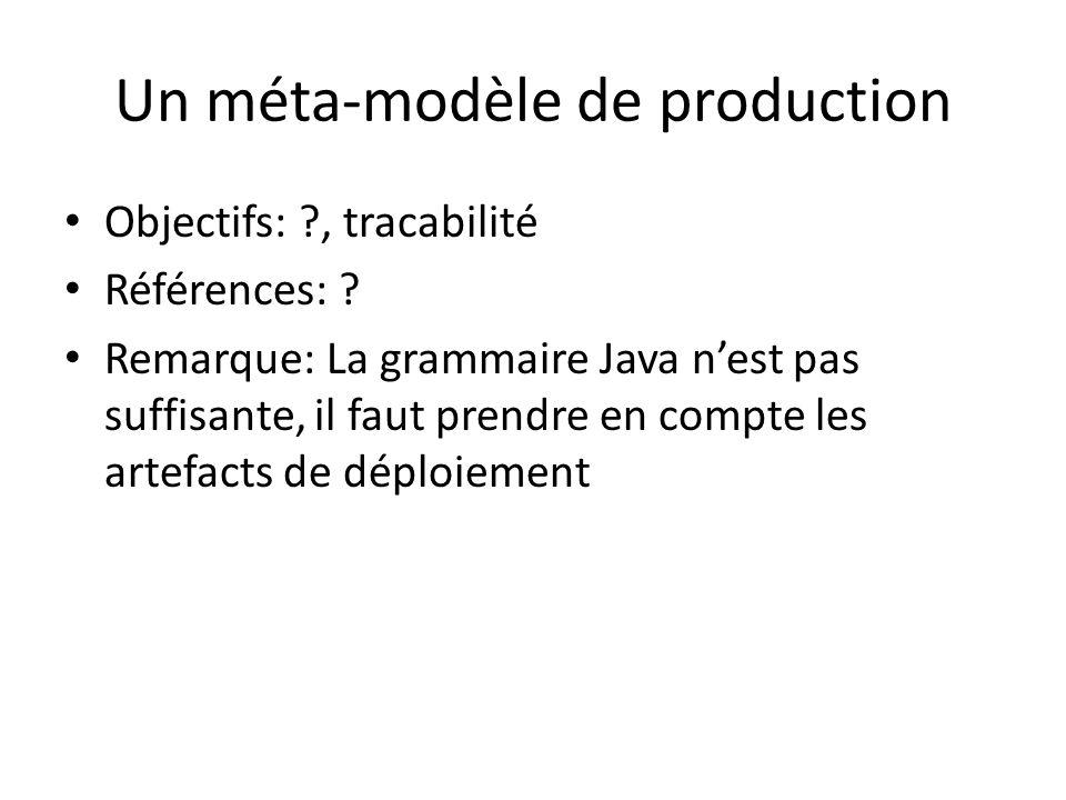 Un méta-modèle de production