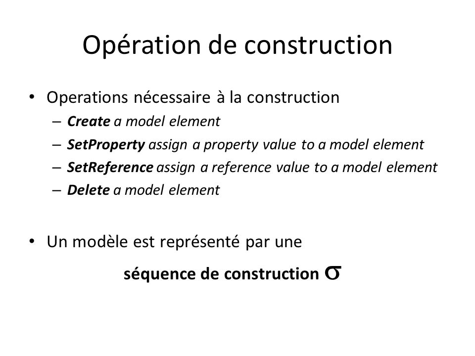 Opération de construction