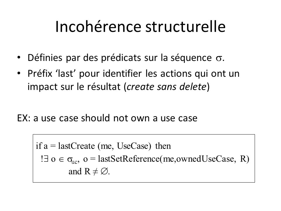 Incohérence structurelle