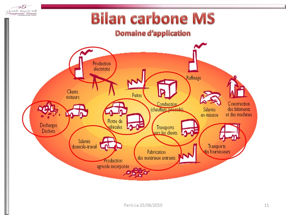 Bilan carbone MS Domaine d'application