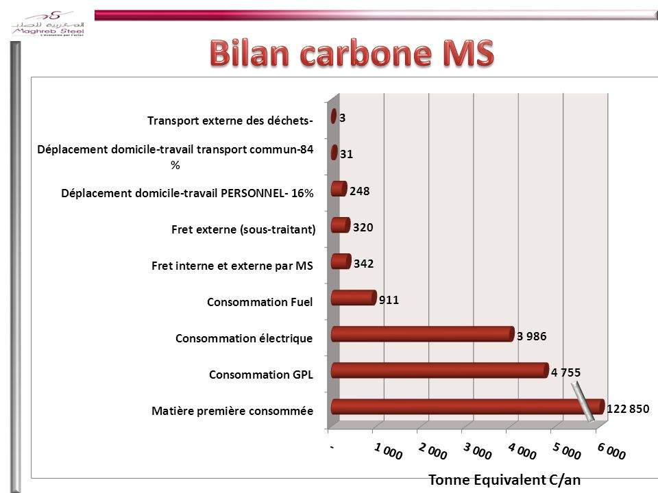 Bilan carbone MS Paris Le 25/06/2010 Tonne Equivalent C/an